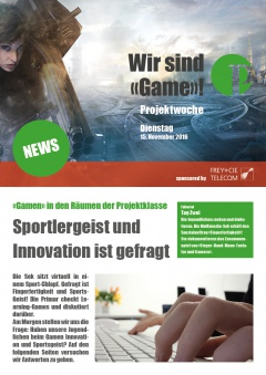 Projektwoche Game Newspaper Dienstag