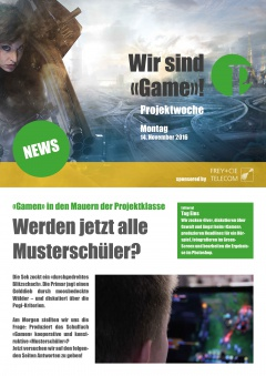 Projektwoche Game Newspaper Montag